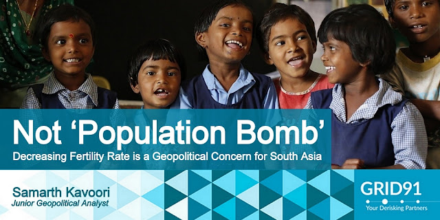 Not 'Population Bomb', Decreasing Fertility Rate is a Geopolitical Concern for South Asia