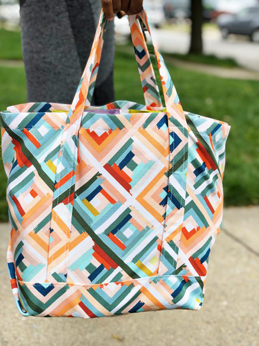 Canvas Tote Bag Designed by Kymona Tracey from WeallSew