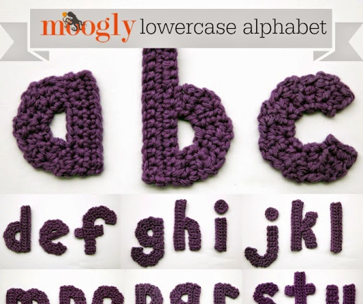Crochet Letters and Numbers for appliqueing and decor