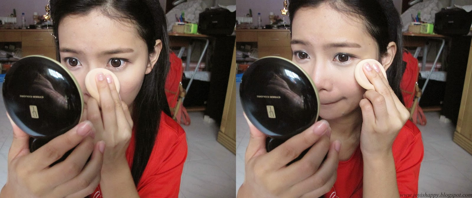 cyber colours black label uv powder foundation