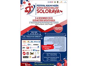 Gratis! Festival Kaum Muda - Bursa Kerja Inklusif Soloraya 2019 Tanggal 3-4 Desember 2019 di Gedung Grha Wisata Niaga Kota Surakarta