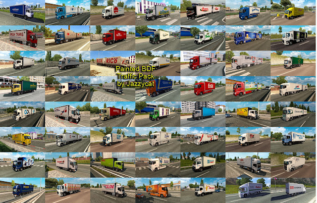 ets 2 painted bdf traffic pack v4.7 screenshots 4