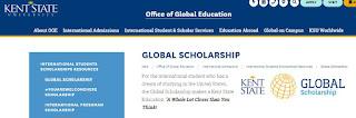 Global Scholarships at Kent State University 2020 in US - Bivash Vlogs