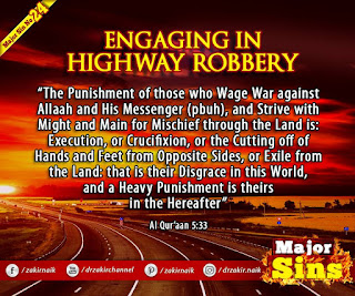 MAJOR SIN. 24. ENGAGING IN HIGHWAY ROBBERY