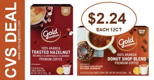Gold Emblem Coffee Cup CVS Deals