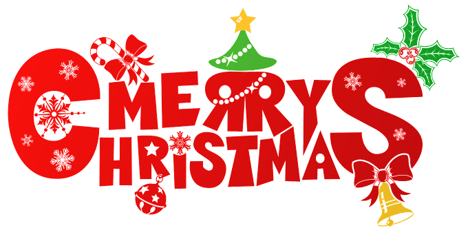 Merry Christmas logo with bell free png by pngkh.com