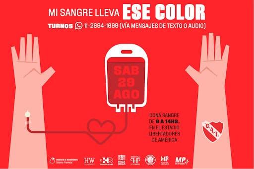 Los clubes de fútbol de Avellaneda, unidos en campaña para la donación de sangre