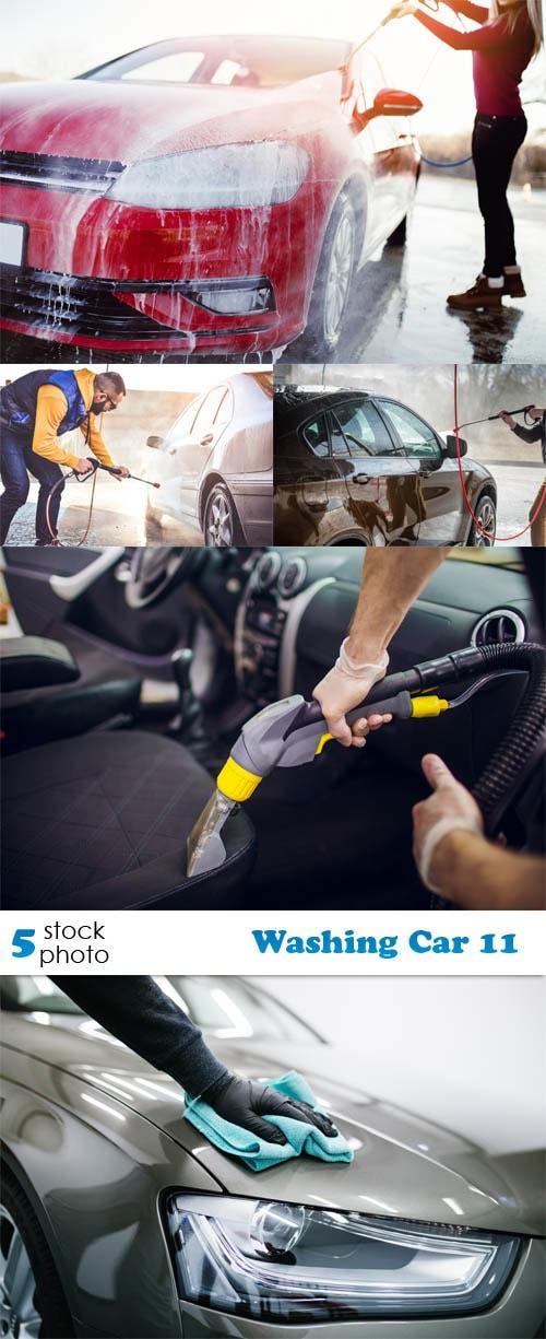 مجموعة صور لأشخاص يغسلون السيارات، محلات غسل السيارات