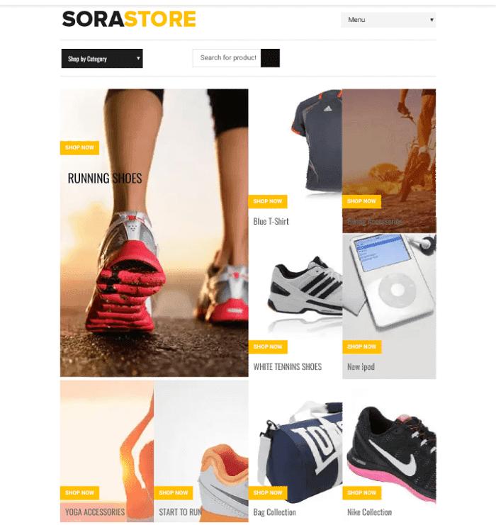 Sora Store Blogger Template