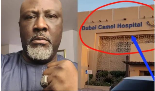 Senator Dino Melaye blasts Nigeria Government after coming across an Hospital in Dubai