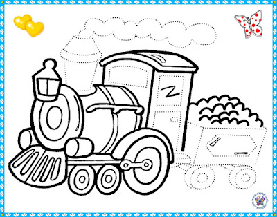 Download and print pictures with trains