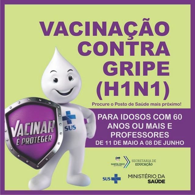 Segunda etapa de vacinação contra gripe começa nesta terça-feira (11) para idosos e professores