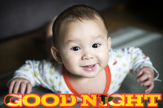 Good night cute, good night cute baby image