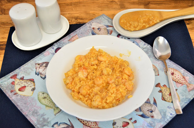 las delicias de Mayte, risotto, risotto de gambas, risotto de gambas italiano, risotto de gambas receta, risotto gambas, risotto mariscos, risotto receta,