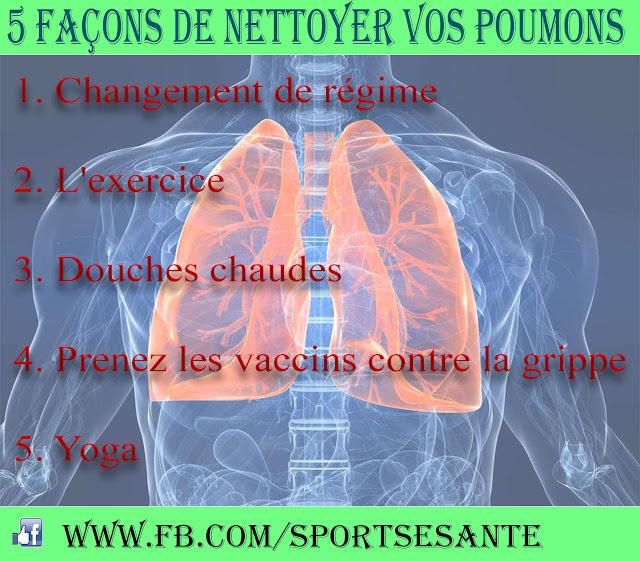 5 Façons de nettoyer vos poumons
