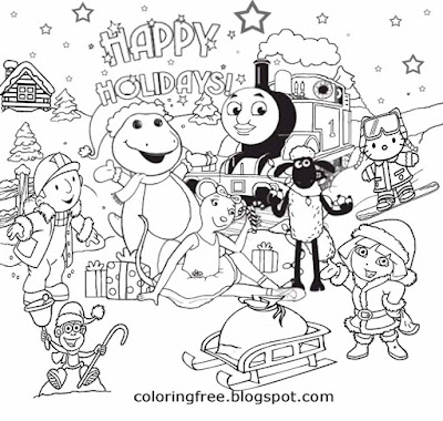 Christmas drawing pictures fun coloring pages for teenagers printable Santa Claus is coming to town