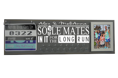 sole soul mates running medal display holder hanger race bibs