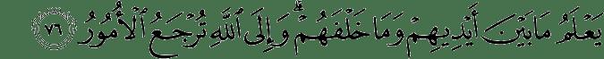 Surat Al Hajj ayat 76