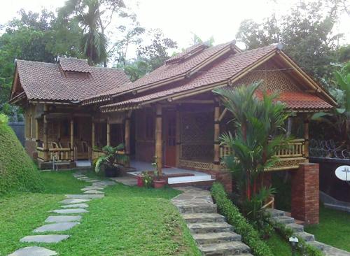 Contoh Desain Rumah Bambu Sederhana Terbaru & Contoh Desain Rumah Bambu Sederhana Yang Asri | Rumah Impian
