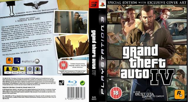 Capa GTA Grand Theft Auto IV PS3