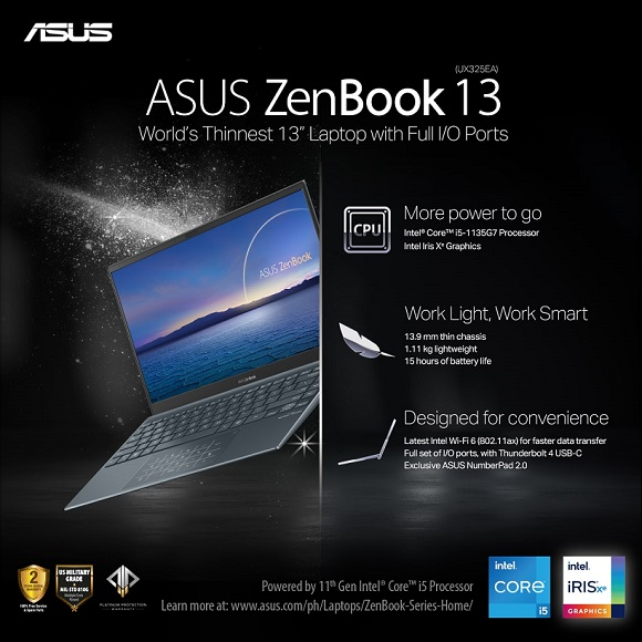 ASUS Zenbook 13 UX325 11th Gen Intel Core