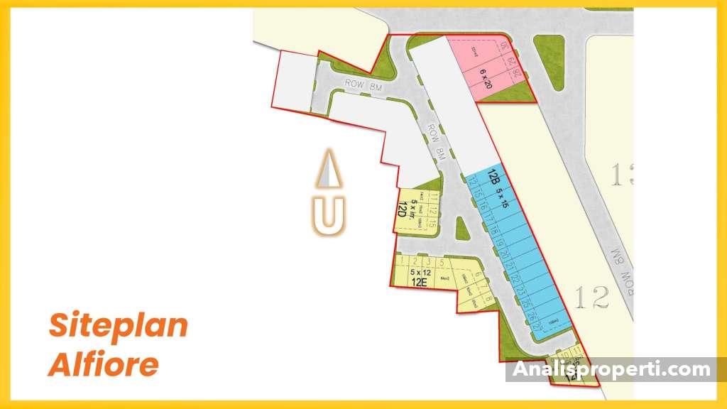 Siteplan Alfiore Banjar Wijaya