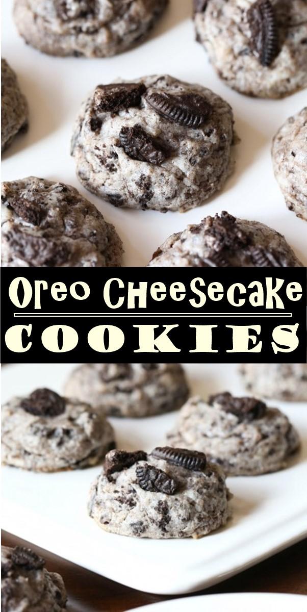 Oreo Cheesecake Cookies #cookiesrecipes
