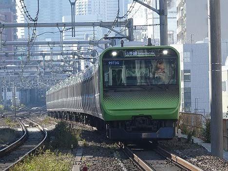 山手線 上野行き(2019.11品川駅線路切換工事に伴う運行)
