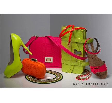neon ayakkabı ve çanta modelleri