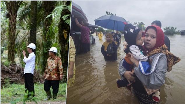 Jokowi Tak Singgung Banjir Kalsel, Dandhy: Itulah Kalau Kekuasaan Disokong Duit Oligarki Tambang dan Perkebunan