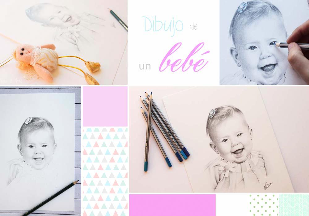 Moodboard dibujo de un bebé