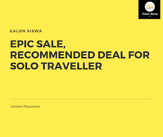 Epic Sale, Recommended Deal for Solo Traveller