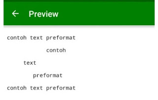 Text preformat HTML. Pencari Dollar
