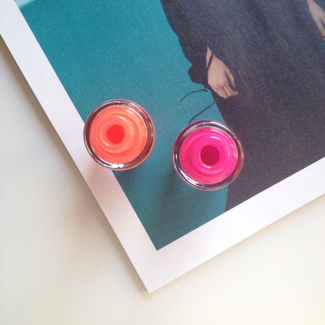 Cien Neon Nail Polish 'Neon Orange' & 'Neon Pink'