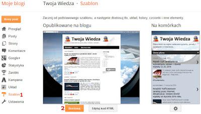 Blogger jak zmienić pozycję paska ciasteczek na blogspot.com