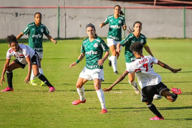 O empate manteve o Palmeiras invicto no Brasileirão Feminino