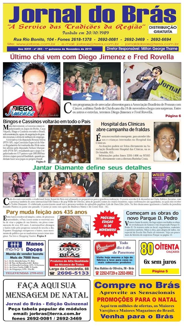 Destaques da Ed. 283 - Jornal do Brás