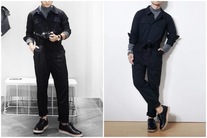 With Full-sleeves t-shirts Style men's jumpsuit.