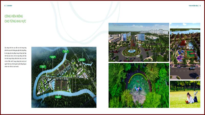 Công viên riêng của từng khu của khu đô thị Waterpoint