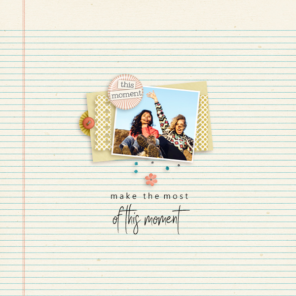 this moment © sylvia • sro 2018 • hello by manda lane scraps