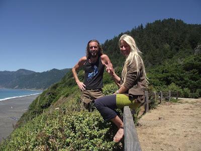 With Hili Smith (Hili Corinne) on the Lost Coast, California
