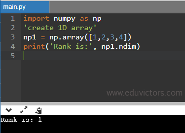 numpy rank - CBSE Class 11 - Informatics Practices - Python Basics - Numpy Arrays (Part-1) - Question and Answers (#CBSEclass11Python)(#cbse)(#eduvictors)