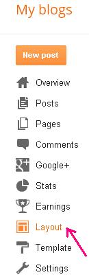 Add search box widget for blogger