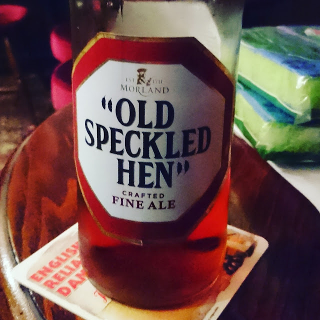 Old Speckled Hen from Greene King real ale bottle