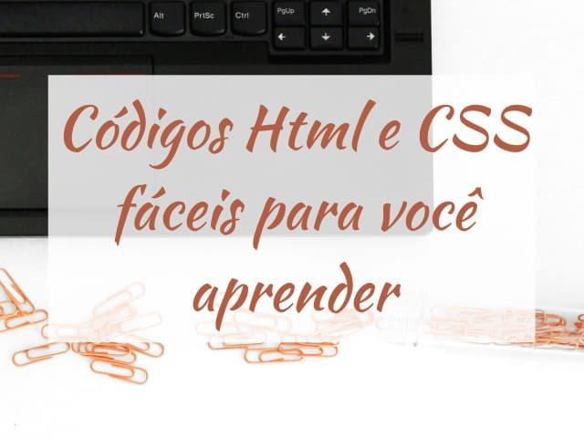 códigos html e css fáceis para você aprender
