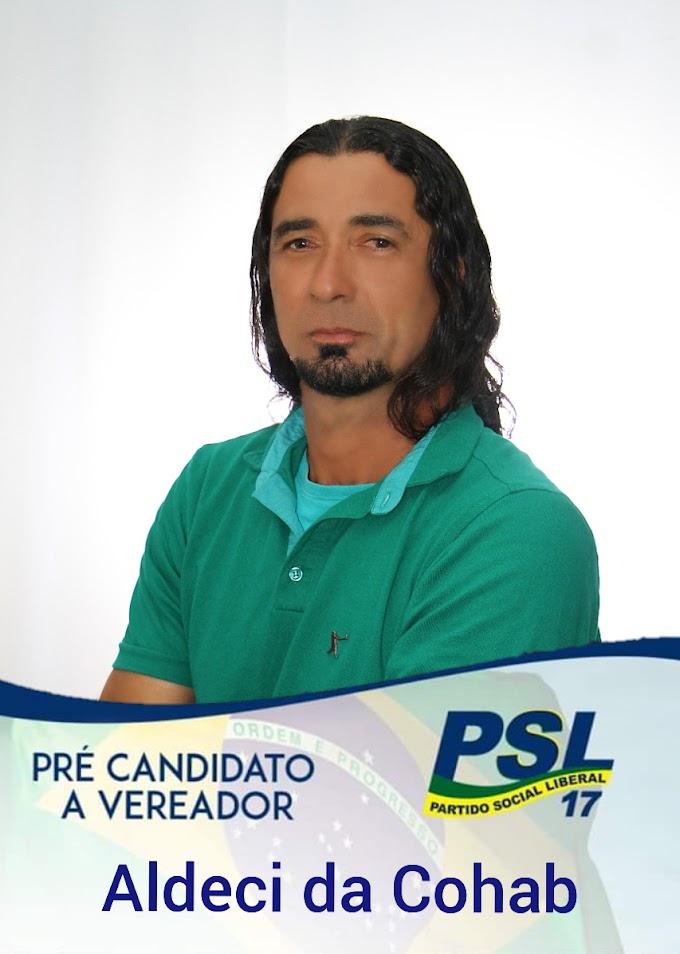 POLÍTICA: Aldeci da Cohab disputará o pleito eleitoral como pré-candidato a vereador pelo PSL; confira um pouco de sua história
