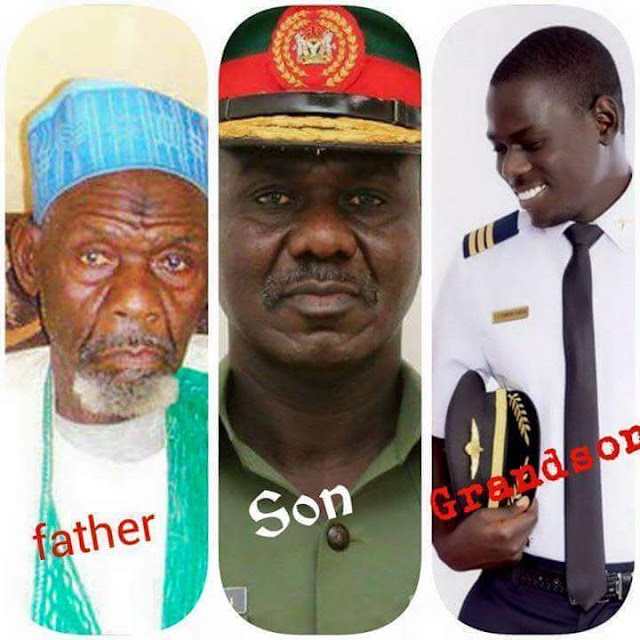 Men in Khaki: Chief of Army Staff, LT. Tukur Buratai, his father and son