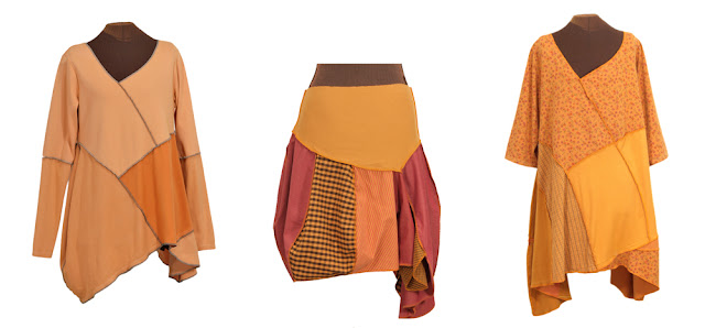 pumpkin spice upcycled dresses and skirts from secret lentil clothing