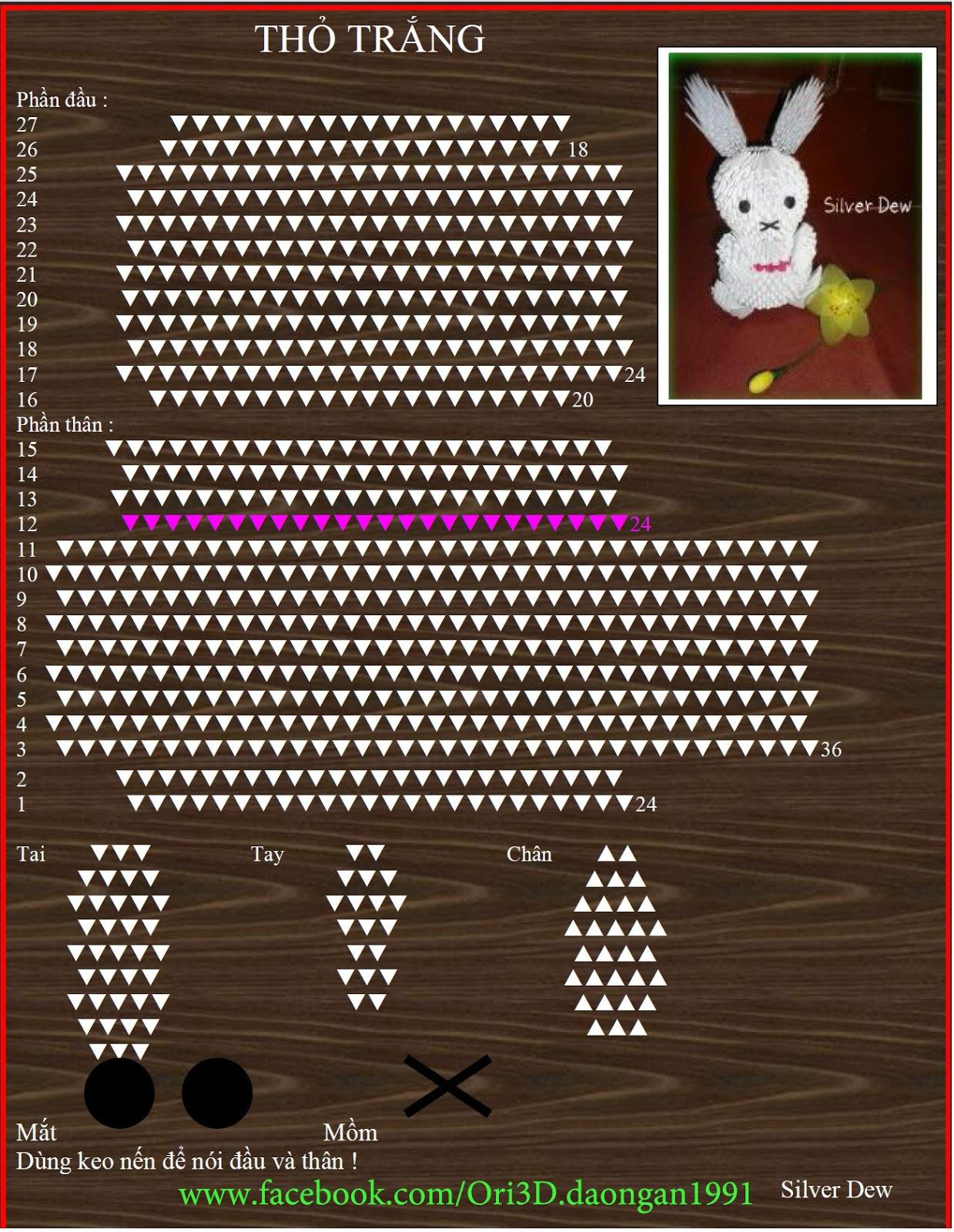 3d Origami Diagram Animals 2010 Ford Ranger Tail Light Wiring Ori Tutorial White Rabbit