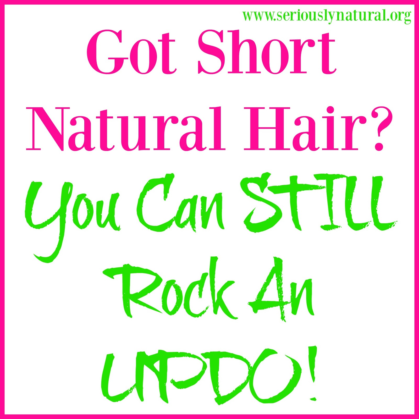 Twisted Updos For Short Natural Hair